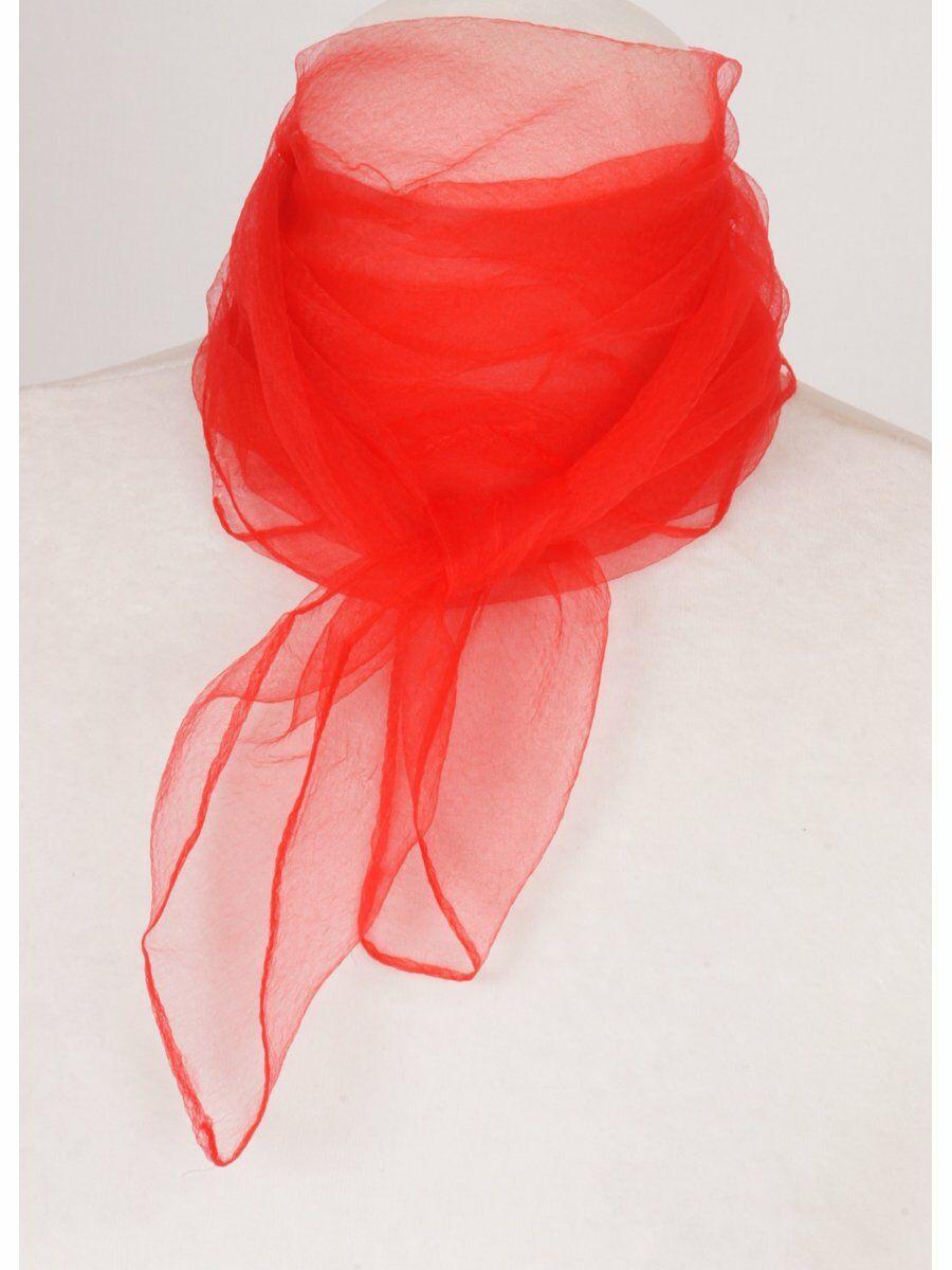 Rode cr�pe voile sjaal