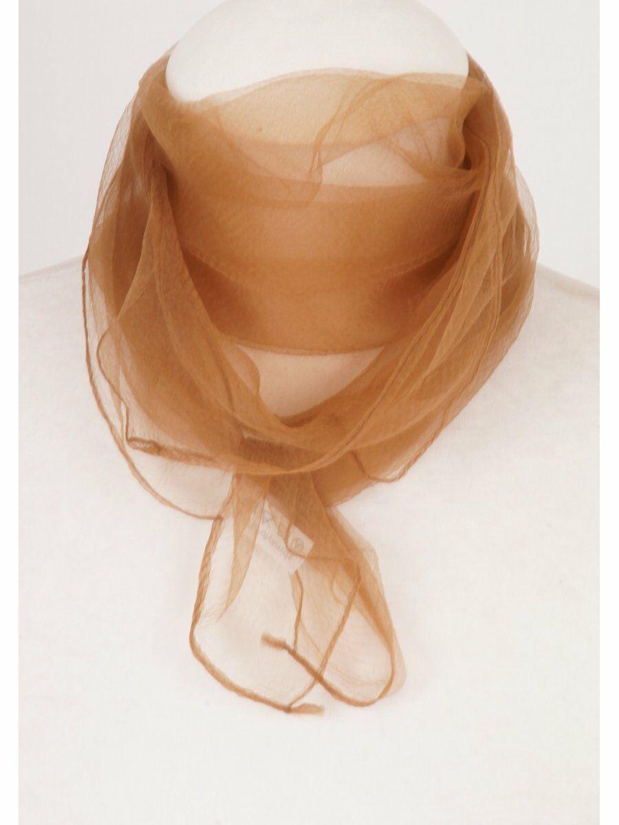 Cr�pe voile sjaal in rehbraun