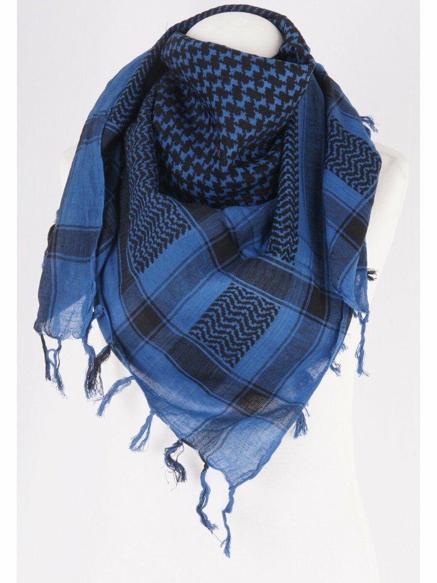PLO shawl zwart/cobalt