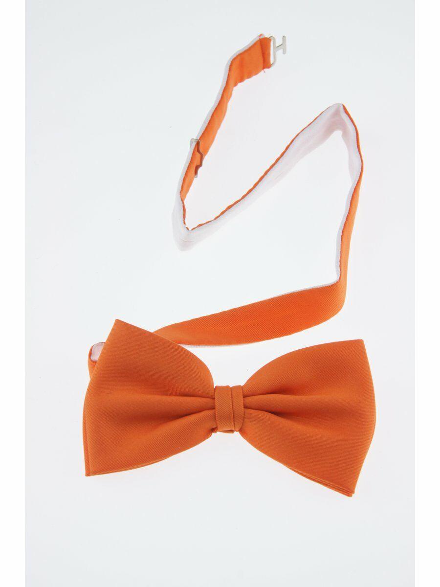 Oranje taft vlinderstrik