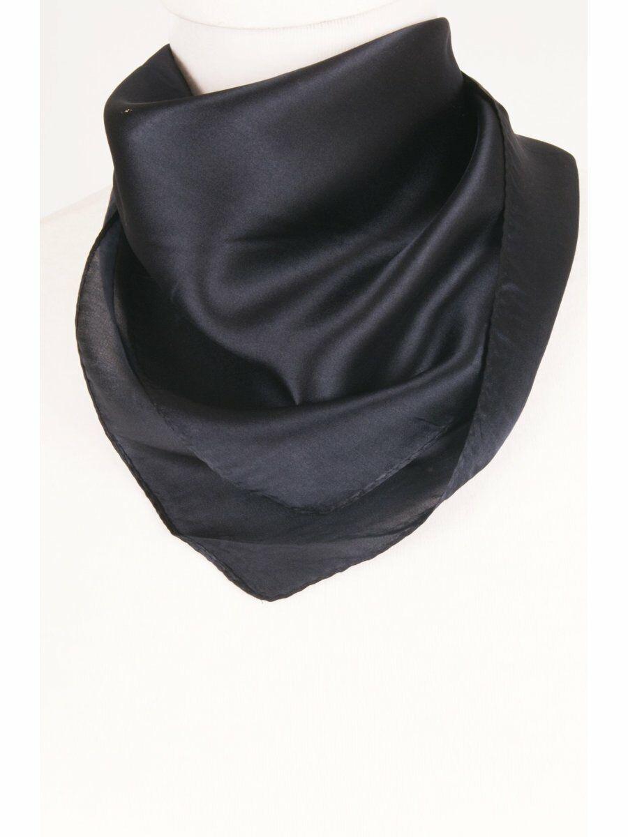 Marine blauwe satijn zijden sjaal