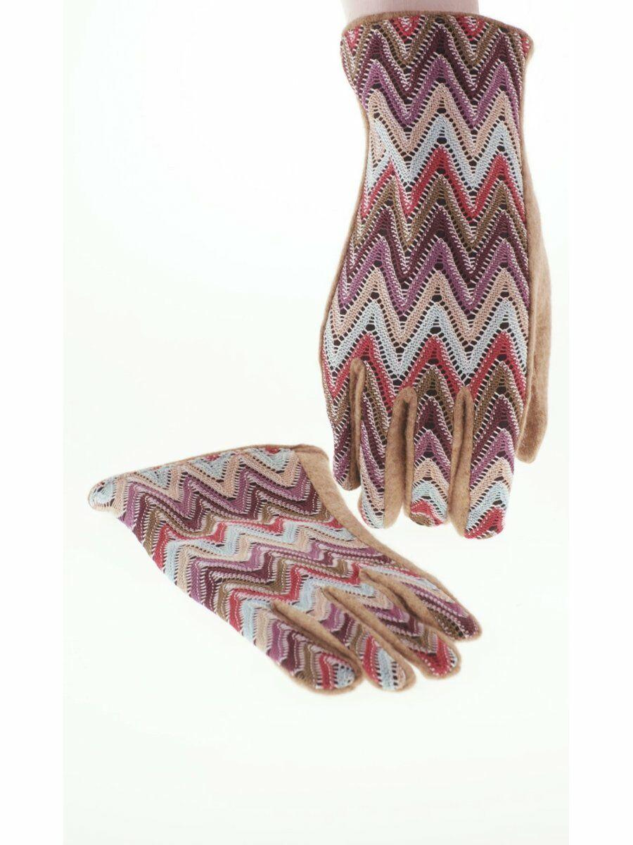 Trendy dames-handschoenen met zig-zag patroon