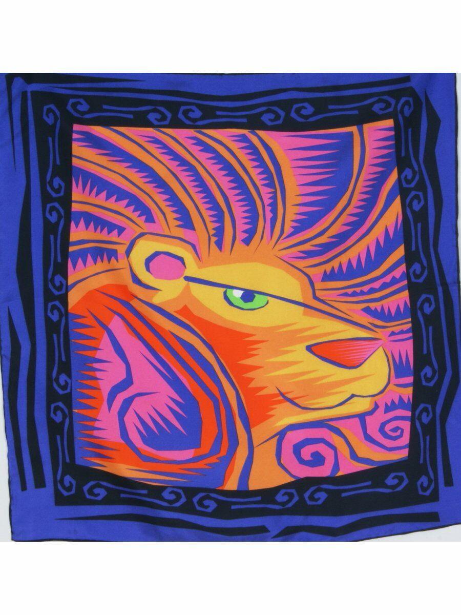 Twill zijden halsdoek met sterrenbeeld Leeuw