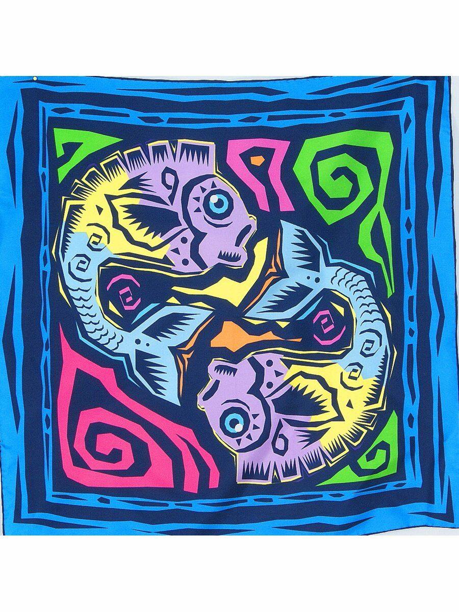 Twill zijden halsdoek met sterrenbeeld Vissen