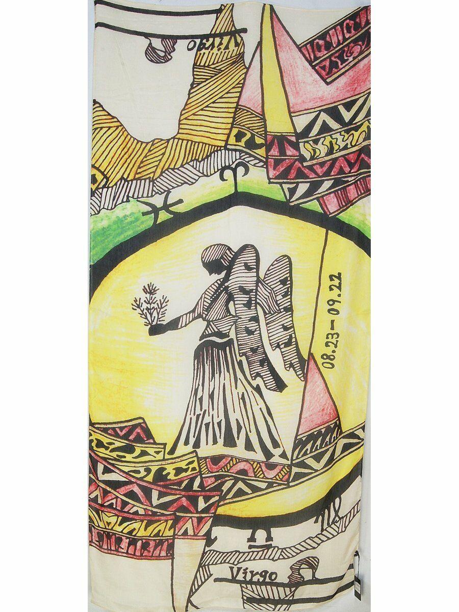 Zijdeblend sterrenbeeldprint sjaal - Maagd