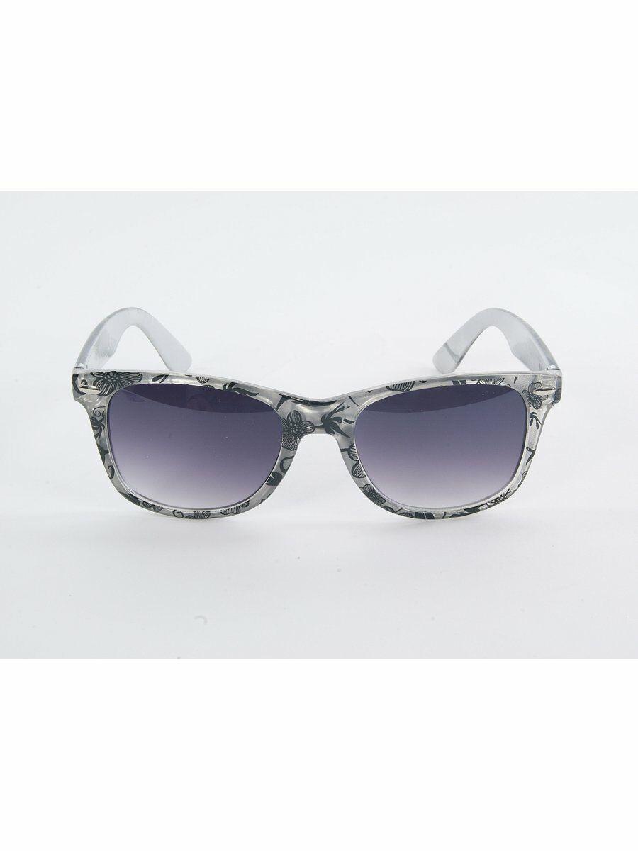 027970a14bf771 Trendy wayfarer type unisex zonnebril met bloemenprint en smokekleurige  glazen uv400 protection wordt .
