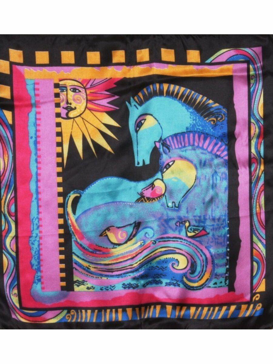 Zwart satijnen art collectie sjaal