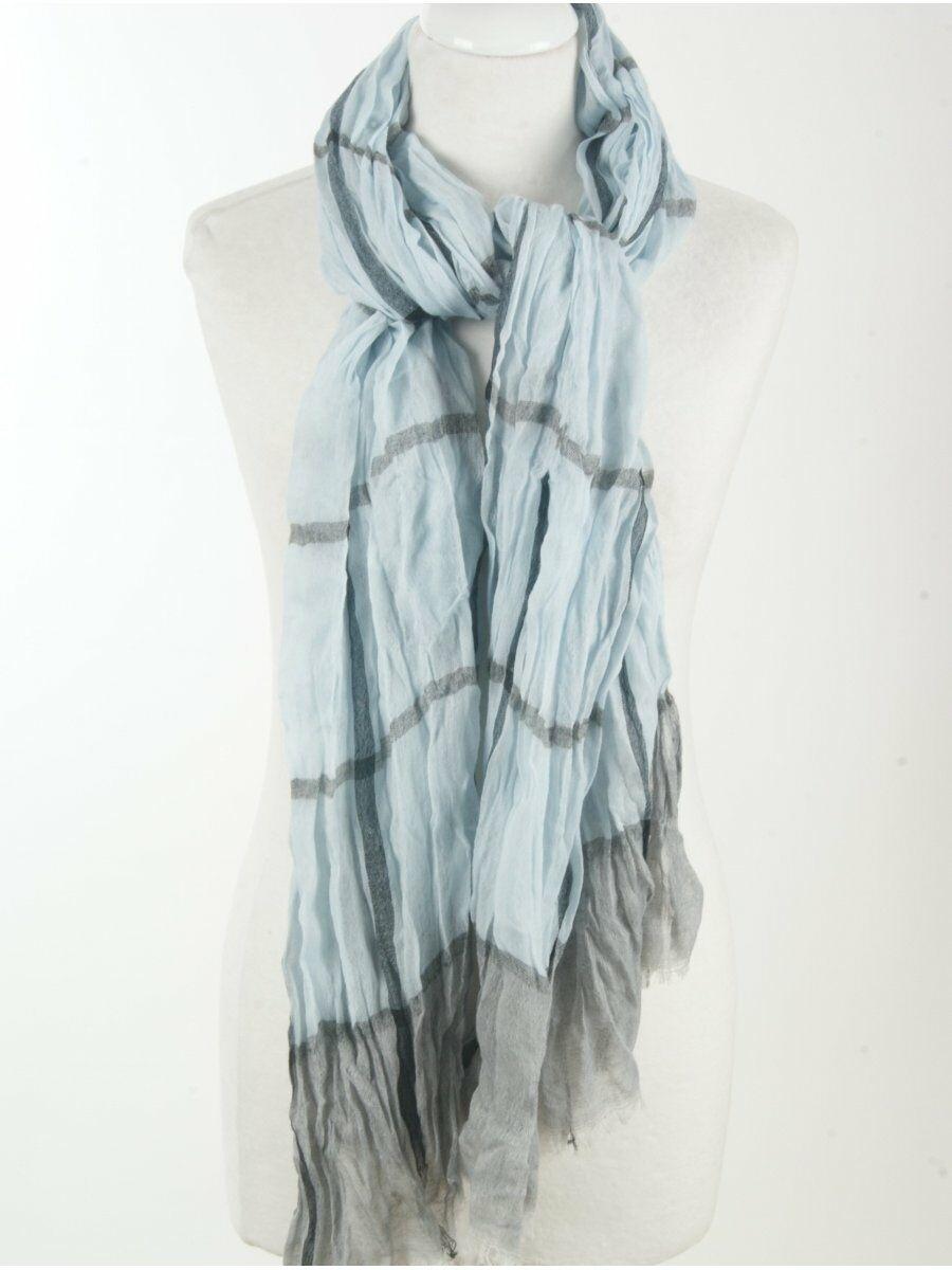 Casual gecrushte herensjaal in lichtblauw