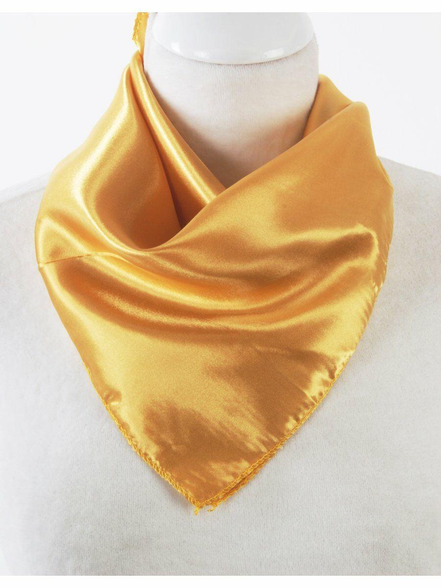 Kleine vierkante effen goudgele sjaal Bedrijven > Sjaals > Satijnen sjaals maat  van  snel en voordelig in huis? Hier lukt het direct