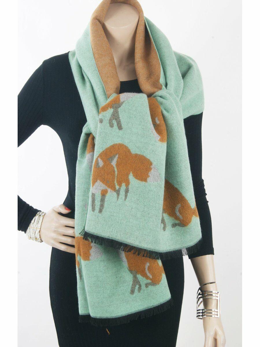 Oversized kasjmierblend sjaal / omslagdoek in mint en cognac Dames > Omslagdoeken & Cape's > Omslagdoeken & Capes – najaar en winter maat  van  snel en voordelig in huis? Hier lukt het direct