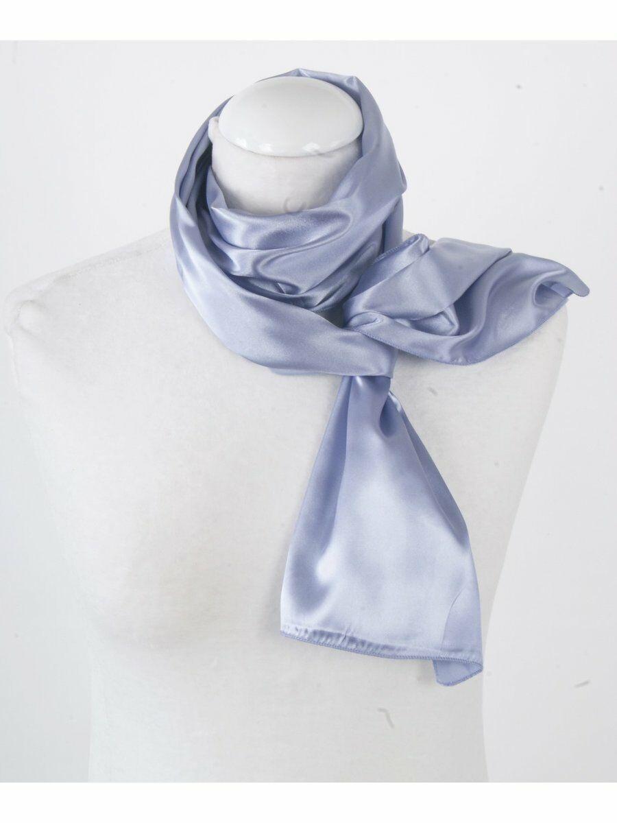 Effen satijnen lila sjaal