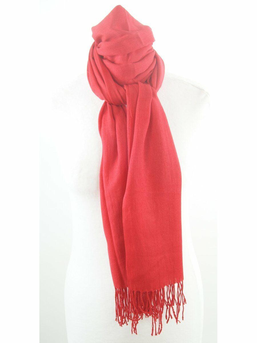 Effen rode pashmina sjaal