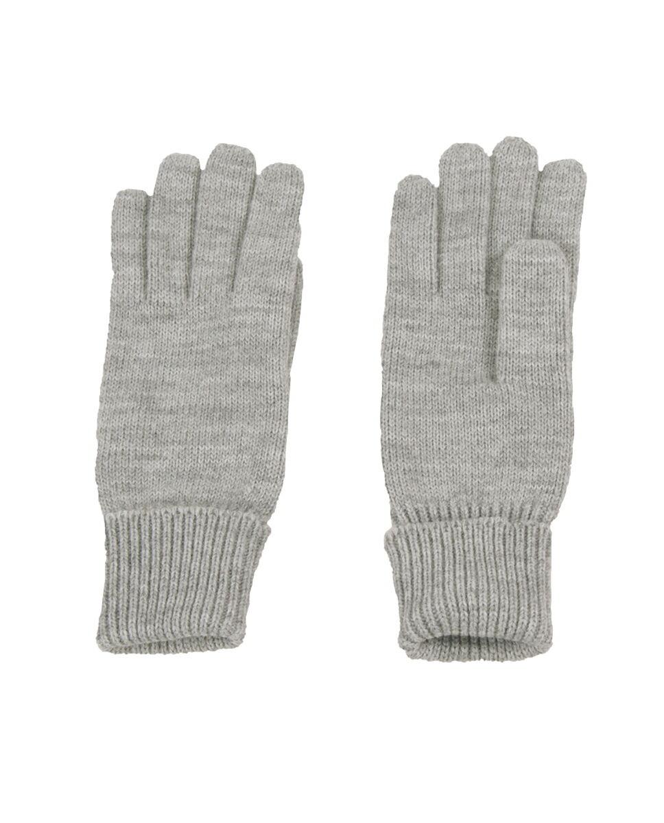 Fijngebreide handschoenen in lichtgrijs