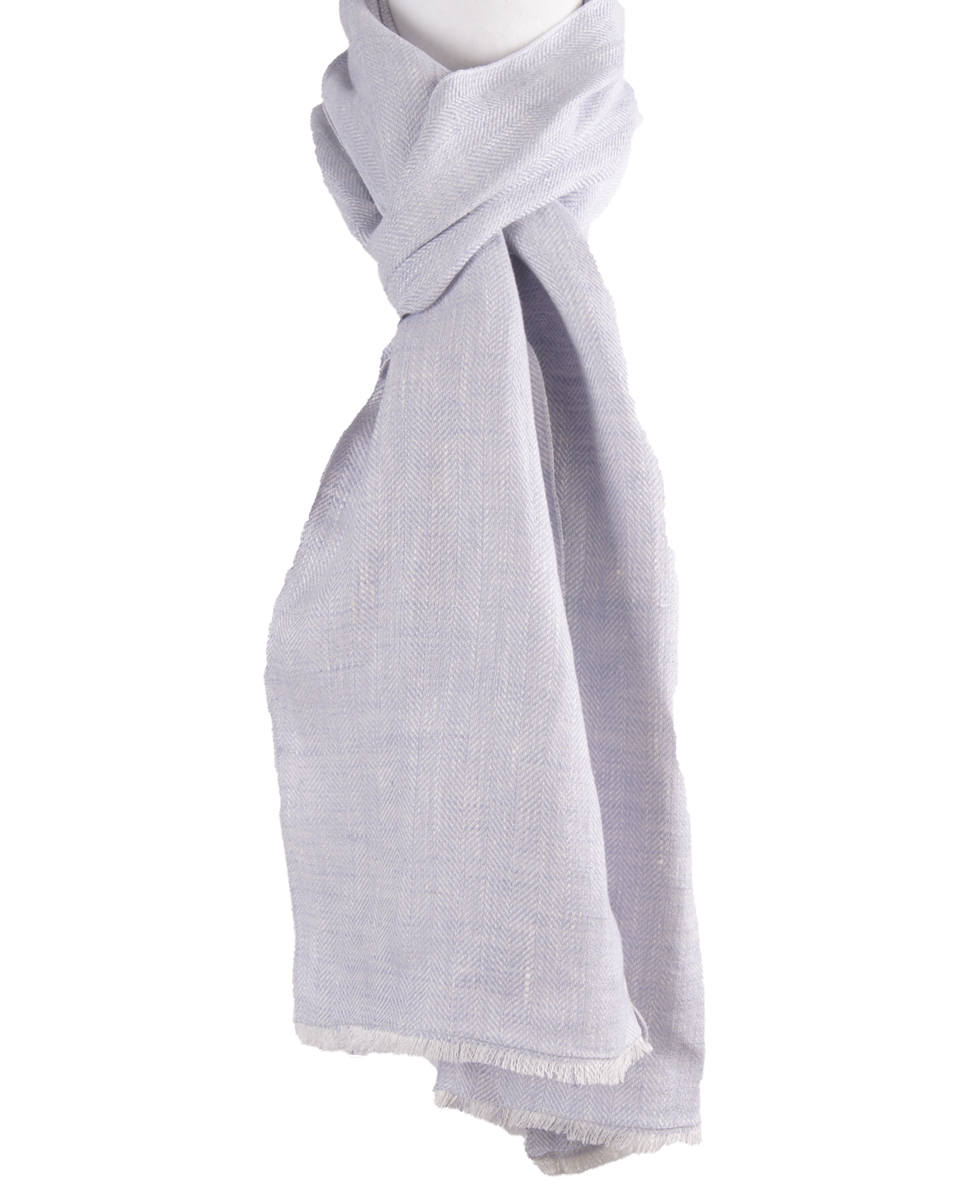 Linnen shawl in zachtlila