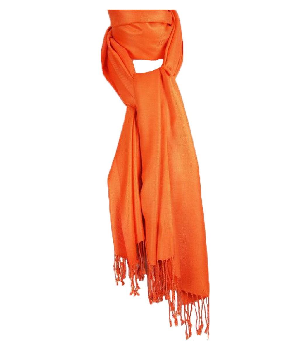 Effen oranje pashmina sjaal