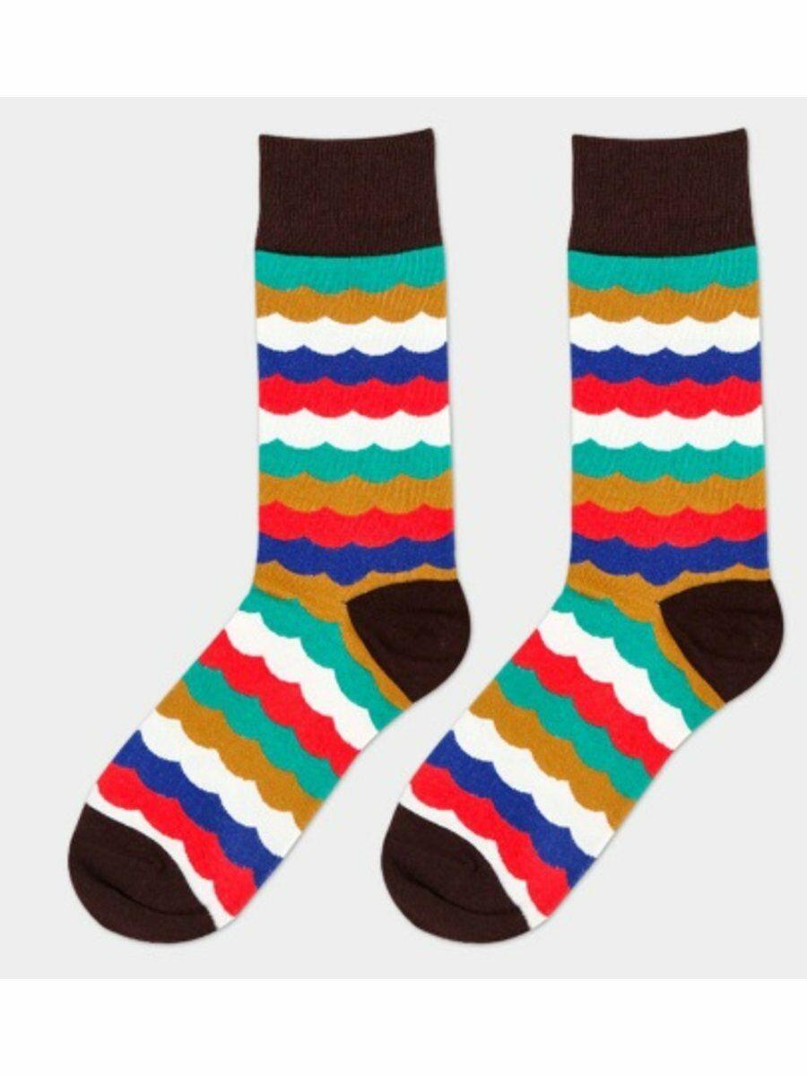 trendy sokken met multicolor golfstructuur