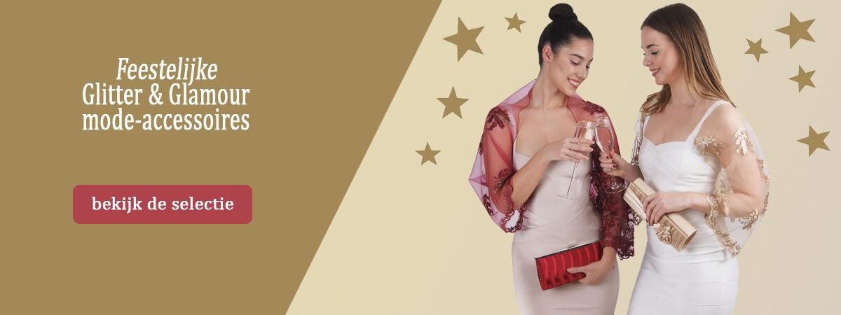 Feestelijke glitter en glamour accessoires